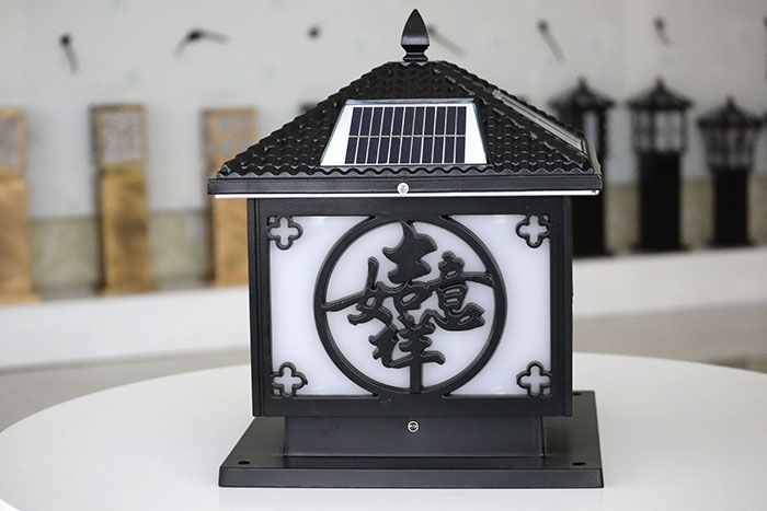 太阳能柱头灯|吉祥如意柱头灯系列