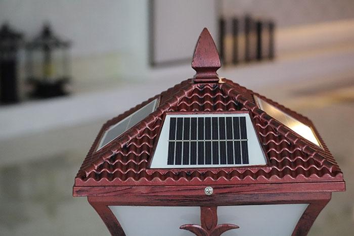 太阳能柱头灯|尖花福柱头灯批发