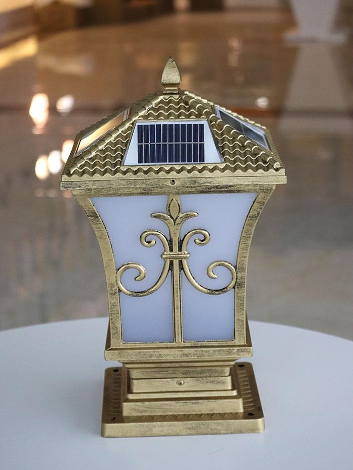 太阳能柱头灯细节图|尖花柱头灯系列
