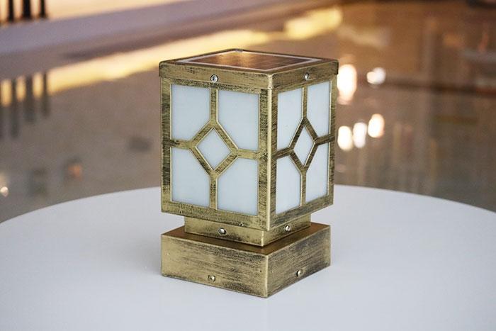 菱形柱头灯|太阳能柱头灯批发