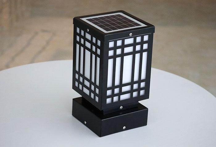 拾方格柱头灯 太阳能柱头灯批发