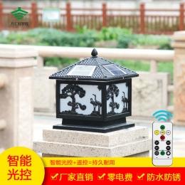 仙鹤松树太阳能柱头灯系列