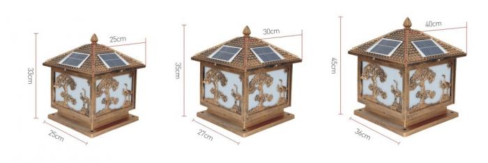 太阳能柱头灯规格图