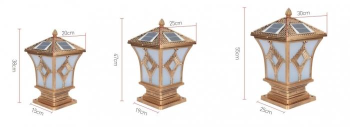 新菱形太阳能柱头灯规格图