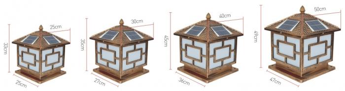 太阳能柱头灯规格