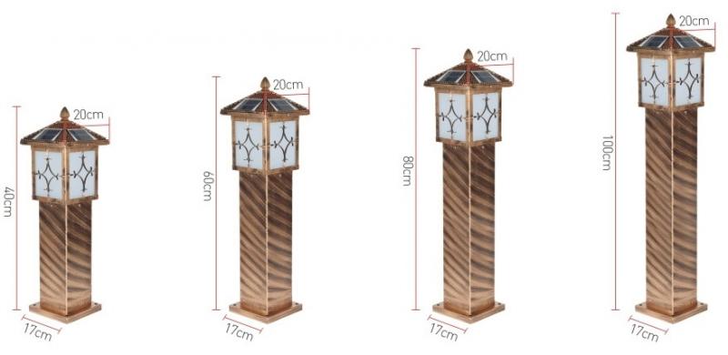 花笼太阳能草坪灯规格