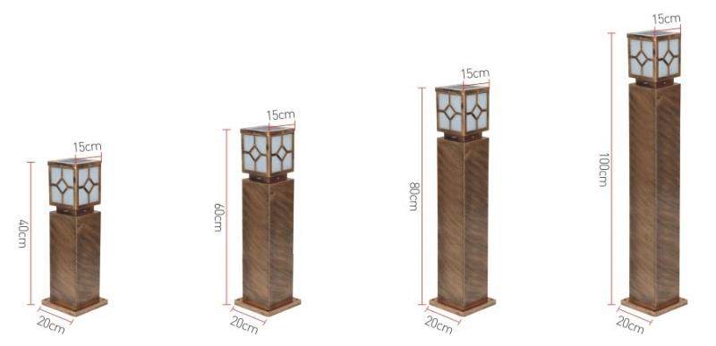 菱形太阳能草坪灯产品规格