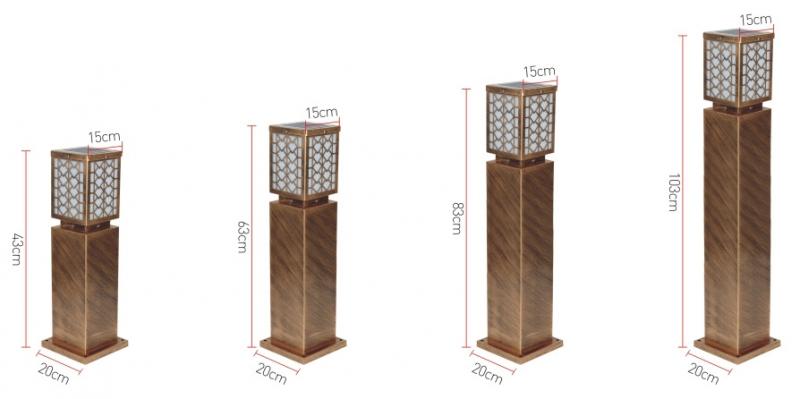 水立方太阳能草坪灯规格