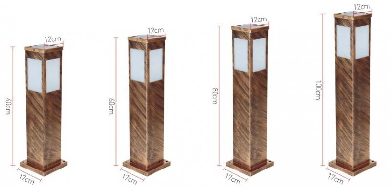 四方太阳能草坪灯规格图