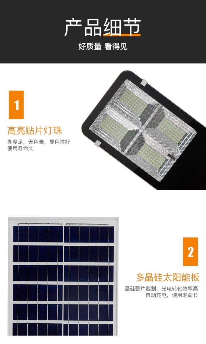 装墙款太阳能路灯详情