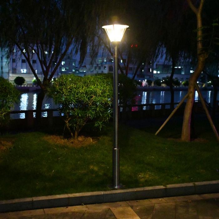 不锈钢庭院灯杆,夜晚效果,不锈钢庭院灯杆厂家