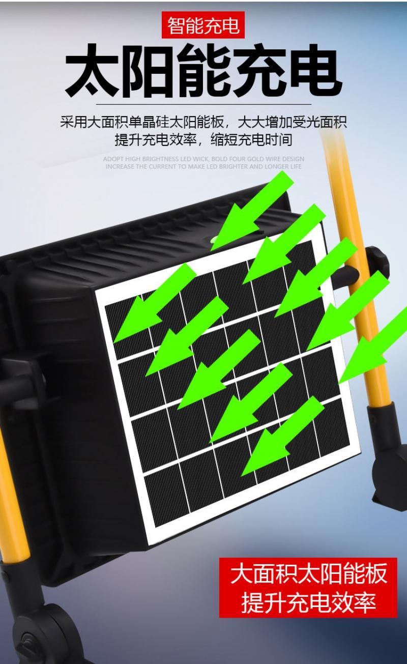 智能led太阳能投光灯