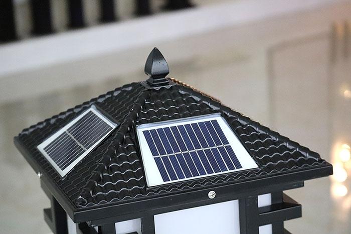 防水太阳能柱头灯