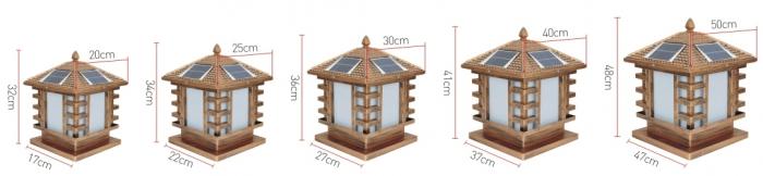 非字太阳能柱头灯产品规格