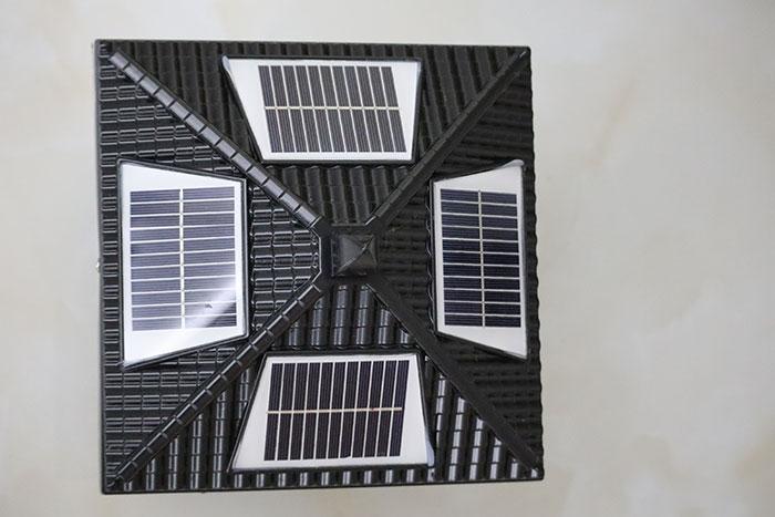 花笼太阳能柱头灯