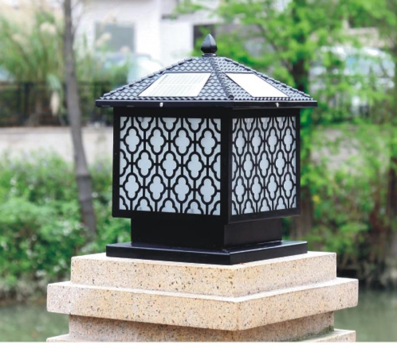 梅花柱头灯|太阳能柱头灯