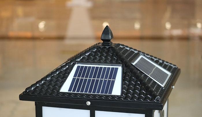 四方剑花柱头灯 太阳能柱头灯批发