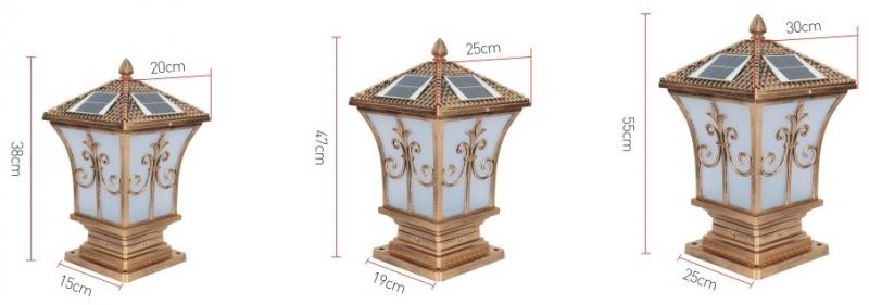 太阳能柱头灯产品规格