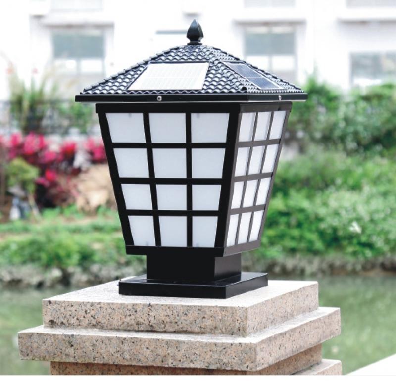 斜笼柱头灯,太阳能柱头灯