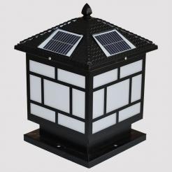 中字压铸铝太阳能柱头灯系列
