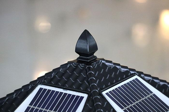太阳能柱头灯 福字太阳能柱头灯